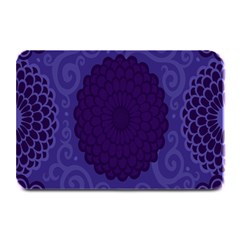 Flower Floral Sunflower Blue Purple Leaf Wave Chevron Beauty Sexy Plate Mats by Mariart