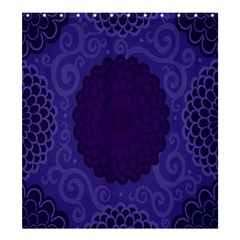 Flower Floral Sunflower Blue Purple Leaf Wave Chevron Beauty Sexy Shower Curtain 66  X 72  (large)  by Mariart