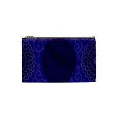 Flower Floral Sunflower Blue Purple Leaf Wave Chevron Beauty Sexy Cosmetic Bag (small)  by Mariart