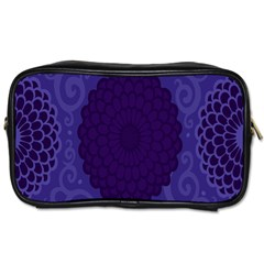 Flower Floral Sunflower Blue Purple Leaf Wave Chevron Beauty Sexy Toiletries Bags by Mariart