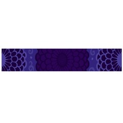 Flower Floral Sunflower Blue Purple Leaf Wave Chevron Beauty Sexy Flano Scarf (large) by Mariart