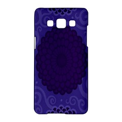 Flower Floral Sunflower Blue Purple Leaf Wave Chevron Beauty Sexy Samsung Galaxy A5 Hardshell Case  by Mariart