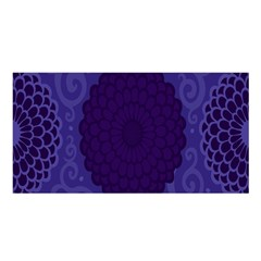 Flower Floral Sunflower Blue Purple Leaf Wave Chevron Beauty Sexy Satin Shawl
