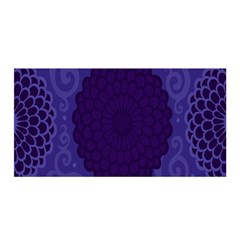 Flower Floral Sunflower Blue Purple Leaf Wave Chevron Beauty Sexy Satin Wrap by Mariart