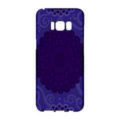 Flower Floral Sunflower Blue Purple Leaf Wave Chevron Beauty Sexy Samsung Galaxy S8 Hardshell Case  by Mariart