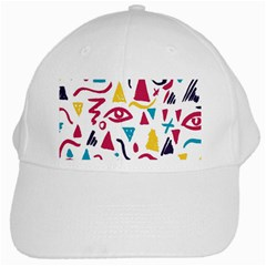 Eye Triangle Wave Chevron Red Yellow Blue White Cap