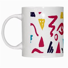 Eye Triangle Wave Chevron Red Yellow Blue White Mugs by Mariart
