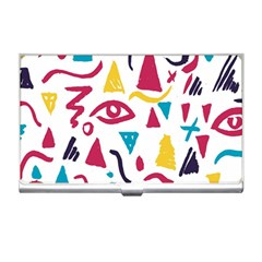 Eye Triangle Wave Chevron Red Yellow Blue Business Card Holders by Mariart