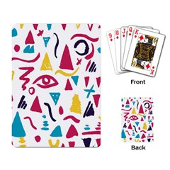 Eye Triangle Wave Chevron Red Yellow Blue Playing Card by Mariart