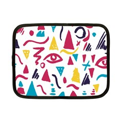 Eye Triangle Wave Chevron Red Yellow Blue Netbook Case (small)  by Mariart