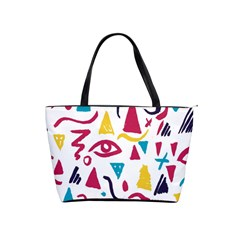Eye Triangle Wave Chevron Red Yellow Blue Shoulder Handbags by Mariart