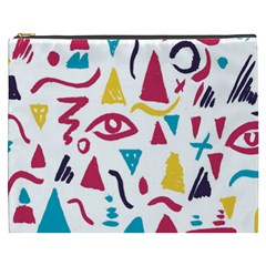 Eye Triangle Wave Chevron Red Yellow Blue Cosmetic Bag (xxxl)  by Mariart
