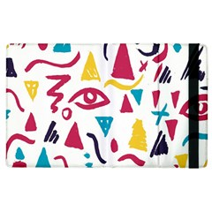 Eye Triangle Wave Chevron Red Yellow Blue Apple Ipad 2 Flip Case by Mariart