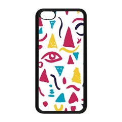 Eye Triangle Wave Chevron Red Yellow Blue Apple Iphone 5c Seamless Case (black) by Mariart