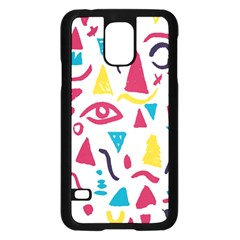 Eye Triangle Wave Chevron Red Yellow Blue Samsung Galaxy S5 Case (black)