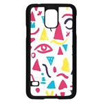 Eye Triangle Wave Chevron Red Yellow Blue Samsung Galaxy S5 Case (Black) Front