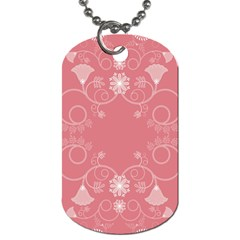 Flower Floral Leaf Pink Star Sunflower Dog Tag (one Side)