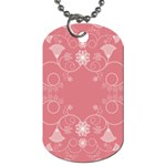 Flower Floral Leaf Pink Star Sunflower Dog Tag (One Side) Front