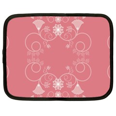 Flower Floral Leaf Pink Star Sunflower Netbook Case (large)