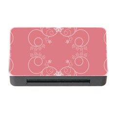 Flower Floral Leaf Pink Star Sunflower Memory Card Reader With Cf by Mariart