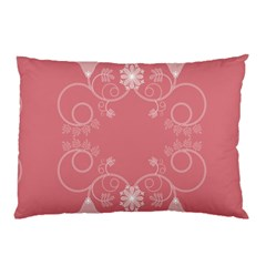 Flower Floral Leaf Pink Star Sunflower Pillow Case (two Sides) by Mariart