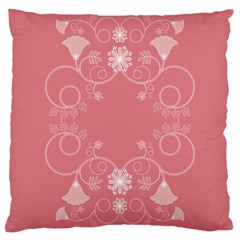 Flower Floral Leaf Pink Star Sunflower Large Cushion Case (one Side) by Mariart