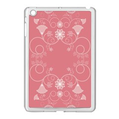 Flower Floral Leaf Pink Star Sunflower Apple Ipad Mini Case (white) by Mariart