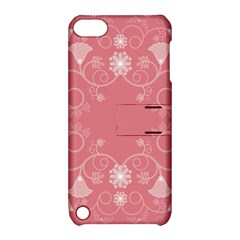 Flower Floral Leaf Pink Star Sunflower Apple Ipod Touch 5 Hardshell Case With Stand by Mariart