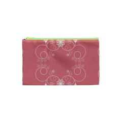 Flower Floral Leaf Pink Star Sunflower Cosmetic Bag (xs) by Mariart