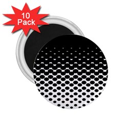 Gradient Circle Round Black Polka 2 25  Magnets (10 Pack)  by Mariart