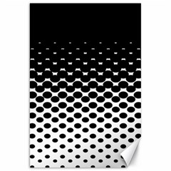 Gradient Circle Round Black Polka Canvas 20  X 30   by Mariart