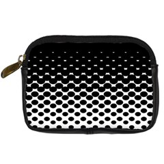 Gradient Circle Round Black Polka Digital Camera Cases by Mariart