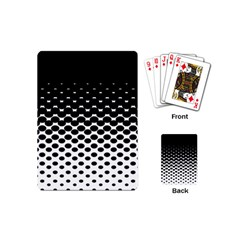 Gradient Circle Round Black Polka Playing Cards (mini)  by Mariart