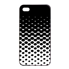 Gradient Circle Round Black Polka Apple Iphone 4/4s Seamless Case (black) by Mariart