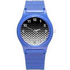 Gradient Circle Round Black Polka Round Plastic Sport Watch (s) by Mariart