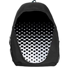 Gradient Circle Round Black Polka Backpack Bag by Mariart