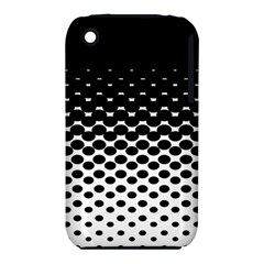 Gradient Circle Round Black Polka Iphone 3s/3gs by Mariart
