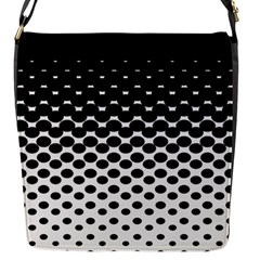 Gradient Circle Round Black Polka Flap Messenger Bag (s) by Mariart