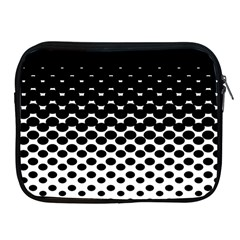 Gradient Circle Round Black Polka Apple Ipad 2/3/4 Zipper Cases by Mariart