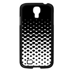 Gradient Circle Round Black Polka Samsung Galaxy S4 I9500/ I9505 Case (black) by Mariart