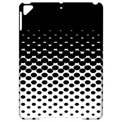 Gradient Circle Round Black Polka Apple Ipad Pro 9 7   Hardshell Case by Mariart