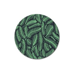Coconut Leaves Summer Green Magnet 3  (round)