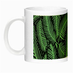 Coconut Leaves Summer Green Night Luminous Mugs by Mariart