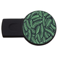 Coconut Leaves Summer Green Usb Flash Drive Round (4 Gb)