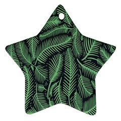 Coconut Leaves Summer Green Star Ornament (two Sides) by Mariart
