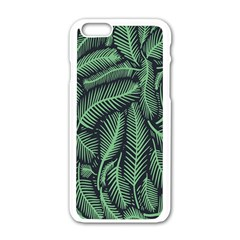 Coconut Leaves Summer Green Apple Iphone 6/6s White Enamel Case by Mariart