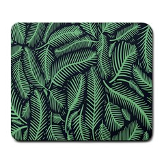 Coconut Leaves Summer Green Large Mousepads
