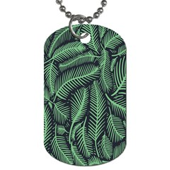Coconut Leaves Summer Green Dog Tag (one Side) by Mariart