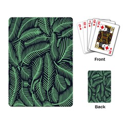 Coconut Leaves Summer Green Playing Card by Mariart