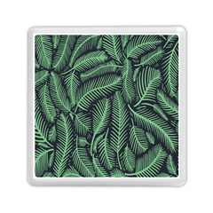 Coconut Leaves Summer Green Memory Card Reader (square)  by Mariart